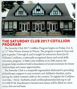 IN T/E: The Saturday Club 2017 Cotillion Program