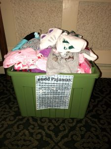 TSC Kids Help Collect Pajamas for Local Charity