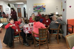 The Saturday Club Celebrates Valentine's Day at the Wayne Senior Center